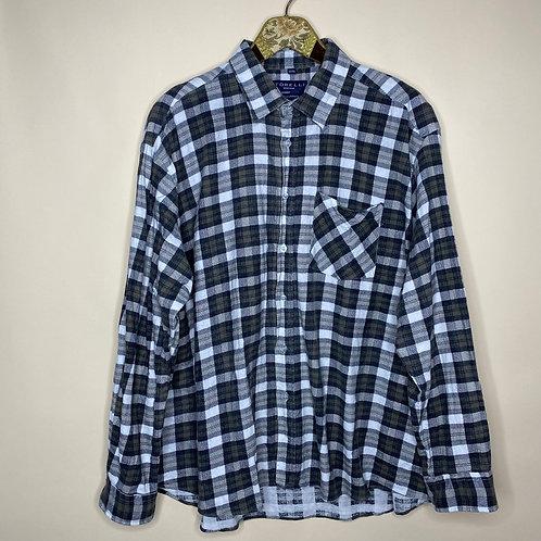 Vintage Hemd Baumwolle Kariert Unisex 80's 90's (XL-XXL)