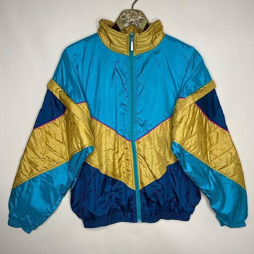 Vintage Shell Jacke abnehmbare Ärmel 80's 90's (L)