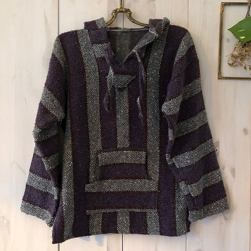 Vintage Aztec Mexican Hoodie Lila 80's 90's (XS)