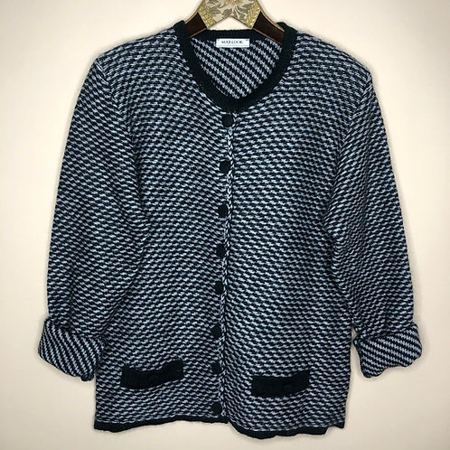 Vintage Cardigan Wolle Marlook 80's 90's (M-L)