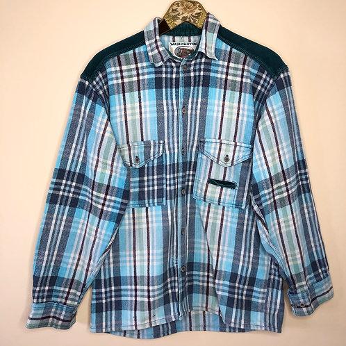Vintage Hemd Baumwolle Kariert Unisex 80's 90's (M-L)