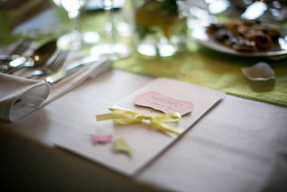 Our cards at beautiful L&V wedding