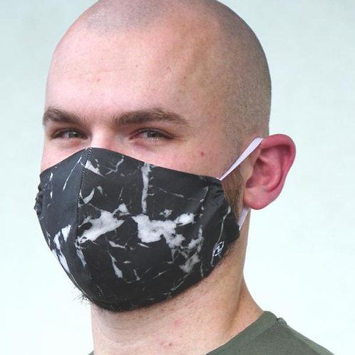 Herrenmaske in schwarzer Graphitoptik