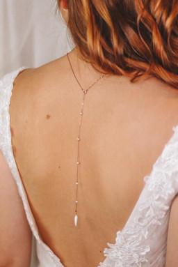 Rückenkette EMMA in roségold
