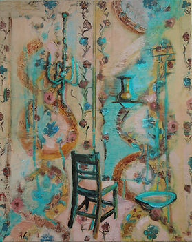 JudyCarrollDeeley_Beckett's Chair_Oil on