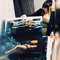 Beth Mitchell Signing Underwater Prints