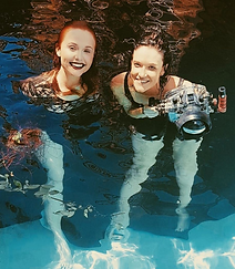 Beth Mitchell and Brooke Nicole Lee Underwater Behind the Scenes