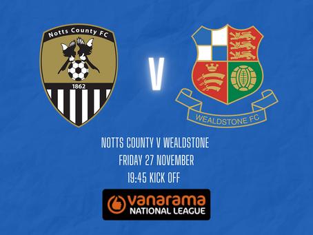 Notts County v Wealdstone - Match Preview