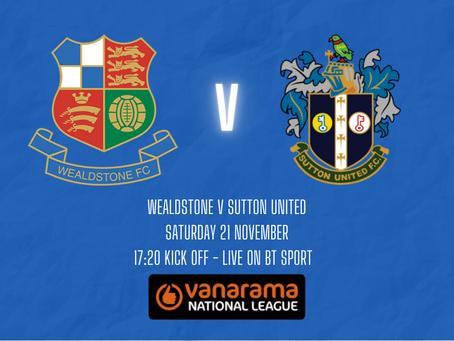Stones v Sutton - LIVE on BT Sport - Match Preview