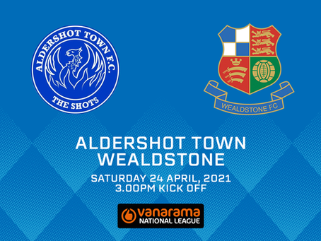 Aldershot Town v Wealdstone - Match Preview