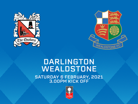 Stones face Darlo in Trophy