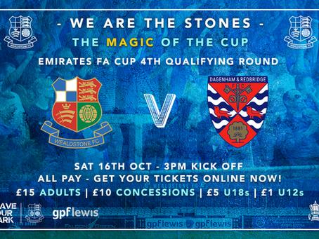 TICKET INFO | Dagenham & Redbridge FA Cup match