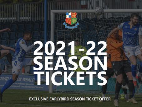 2021/22 Early Bird Season Ticket Offer