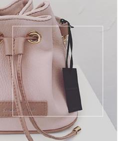 leather mini bucket bag
