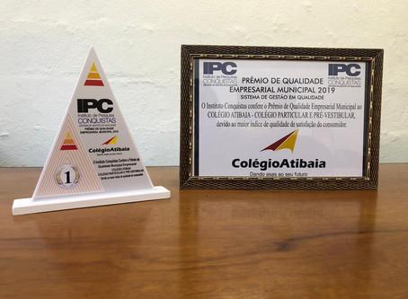 Colégio Atibaia com mais um PRÊMIO!