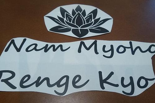 Flor de Lotus com frase