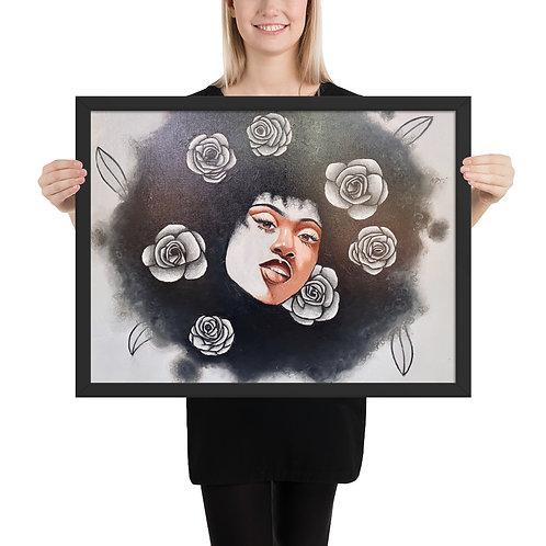 """I Rose Different"" Framed print"