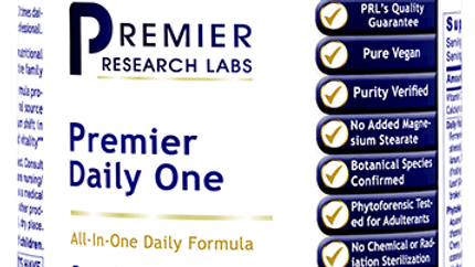 Premier Daily One Premier Research Labs Plant-Sourced Vegan 60 capsules