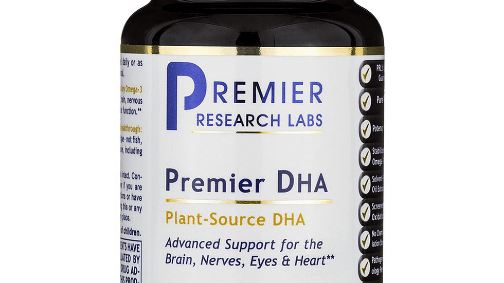 DHA Omega 3 Premier Dietary Supplement Plant-Sourced
