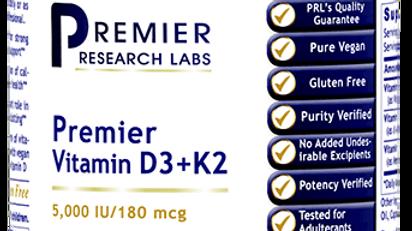 Vegan Vitamin D3+K2, Premier Research Labs