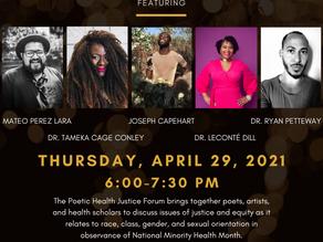 1st annual poetic health justice forum