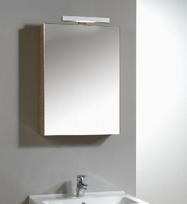 Zrcadlová skříňka š.40cm boky bílá lesk
