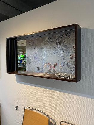 Zrcadlo s policí dýha dub mořený na wenge