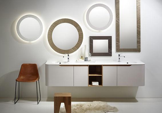 le bon dream top koupelna z ohýbaného dřeva a corian