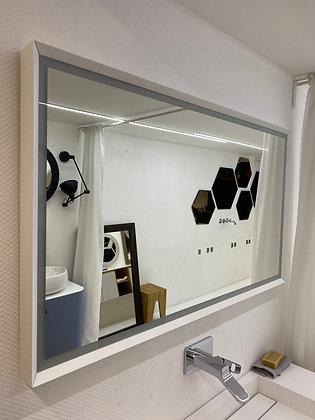 Zrcadlo v rámu bílá mat