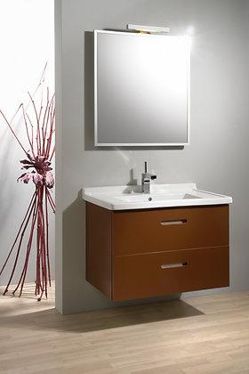 Zrcadlo š.71,5cm V18 v hliníkovém rámu s osvětlením a vypínačem
