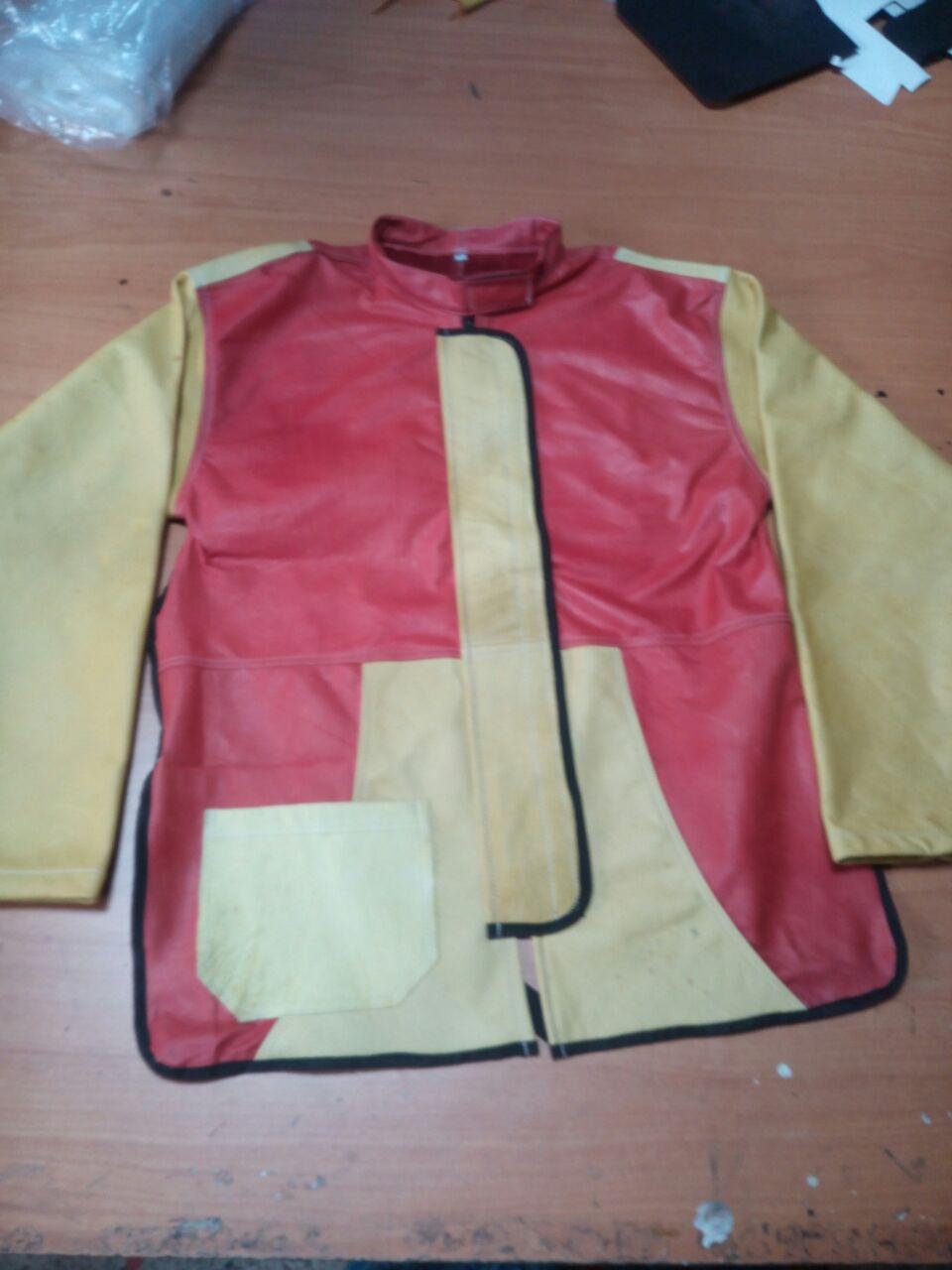 chaqueta para soldar en cuero