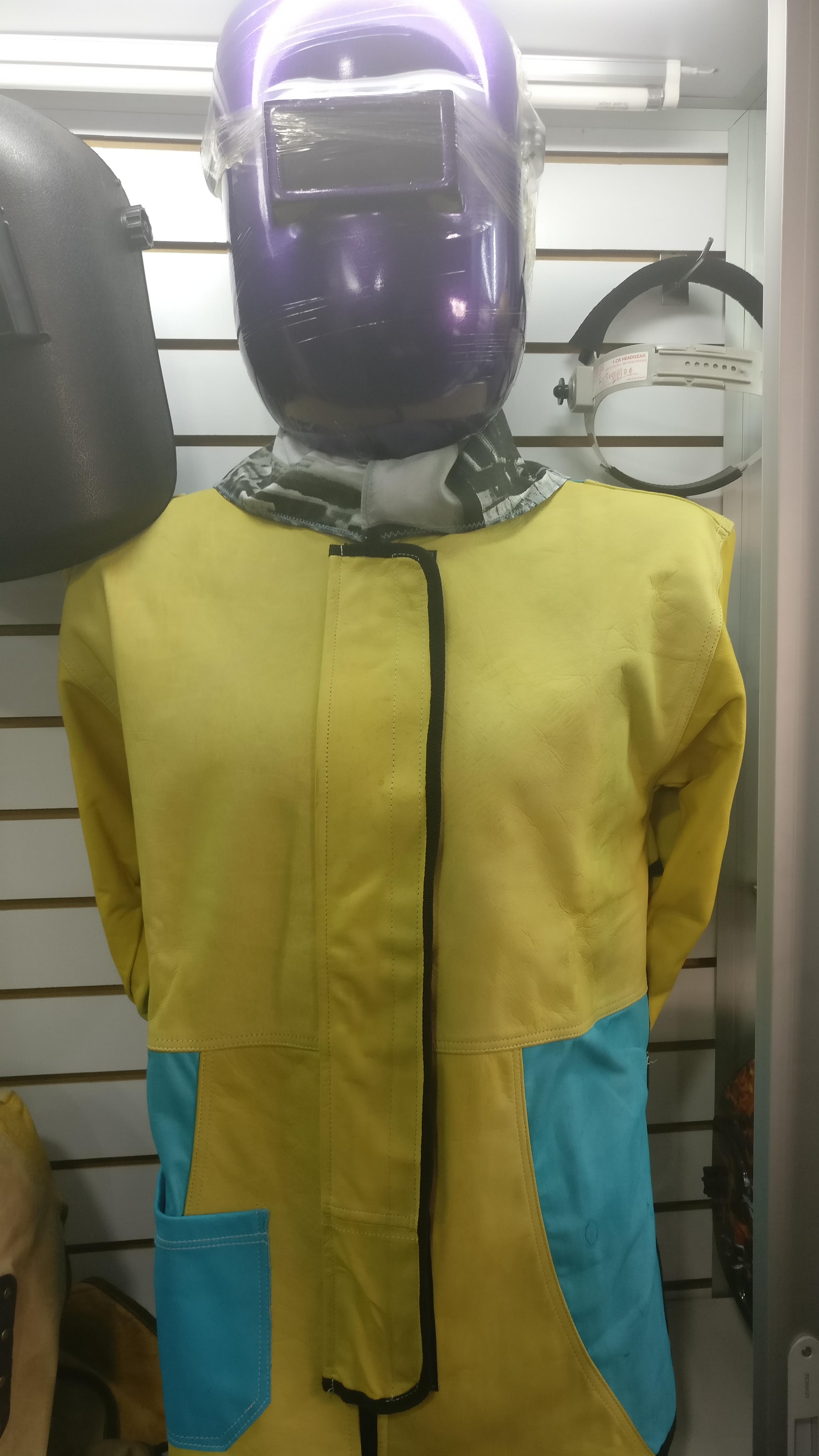 chaqueta en cuero para soldador