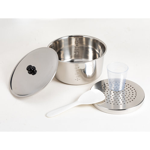TATUNG Original Stainless Steel Pot + Cover + Steaming Plate