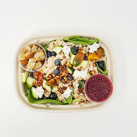 Turkey & Herbed Goat Cheese Salad with R