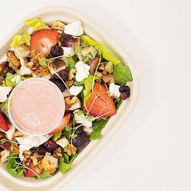 Chicken, Walnut _ Feta Salad with Strawb
