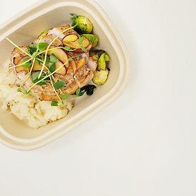 Apple Braised Pork Chops with Garlic Sma