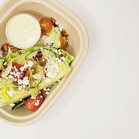 Bacon & Tomato Wedge Salad with Zesty Ra