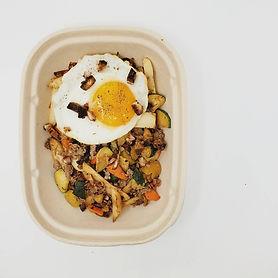 Chopped Veggie Scramble with Fried Egg.j