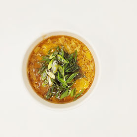 Garlicky Egg Drop Soup with Roasted Chic