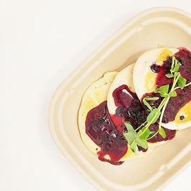 Lemon & Ricotta Hotcakes with Blueberry