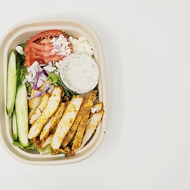 Chicken Shawarma Salad with Tzatziki Dre
