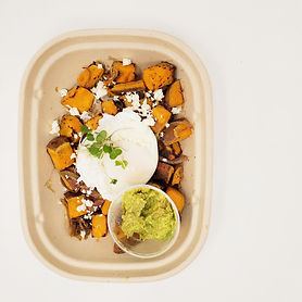 Poached Egg with Fresh Avocado & Sweet P