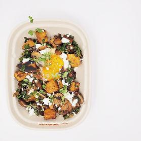 B2 Kale, Goat Cheese _ Squash Frittata .