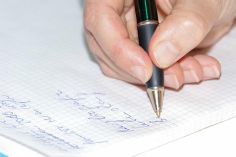 Bild aus einer Schreibwerkstatt