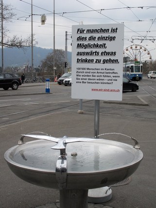 Guerilla Kampagne für die Caritas Zürich