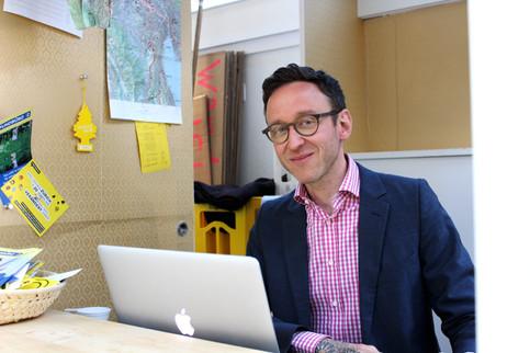 Schriftsteller Thomas Meyer beim FUNDBÜRO2
