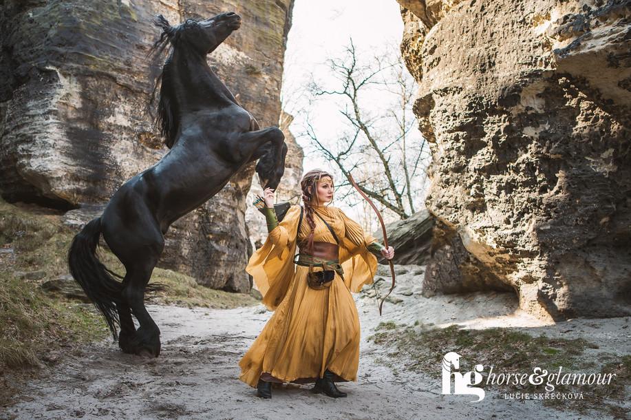 horse and glamour foceni se zviraty s konmi