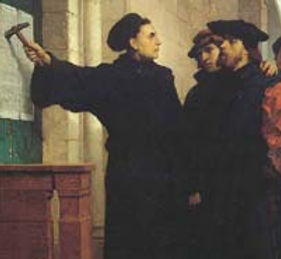 Martin Luther and his 95 theses.