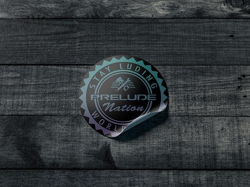 New Prelude Nation Round Sticker
