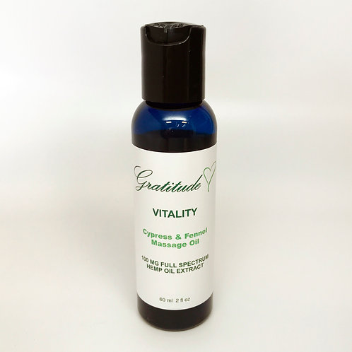 out of stock - Cypress&Fennel CBD Body Massage Oil - 2fl - 100mg. CBD
